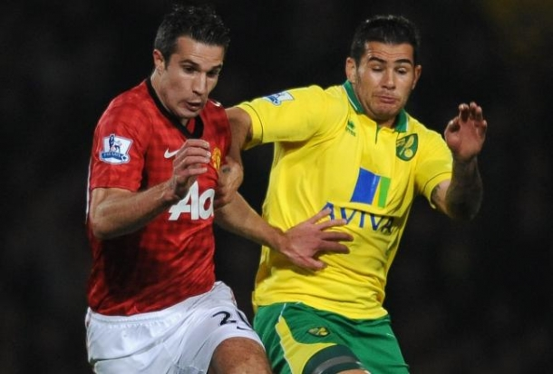 Prediksi Skor Pertandingan Norwich City Vs Manchester United 28 Desember 2013